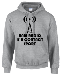 Ham Radio is a contact sport Hoodie
