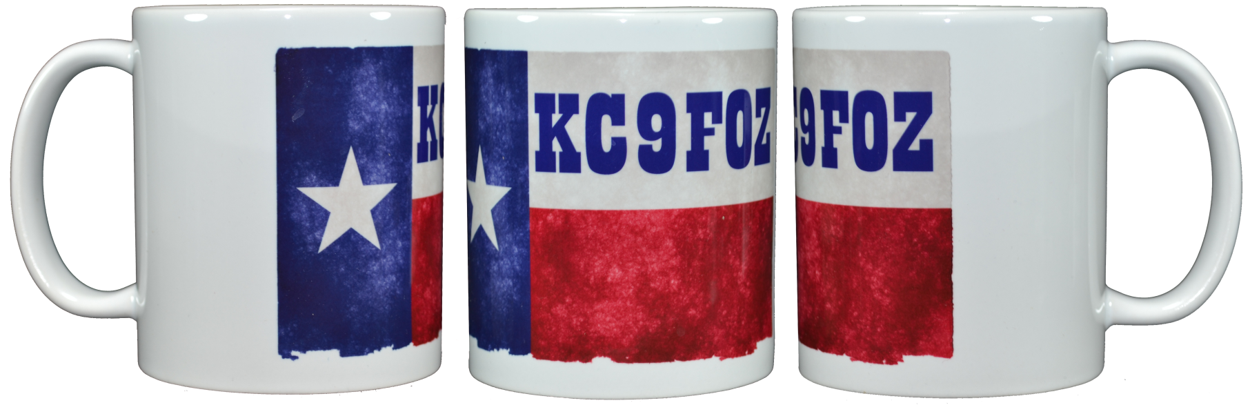Ham Amateur Radio Texas Mug With Call.