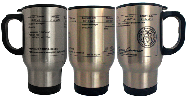 License Stainless Steel Travel Mug