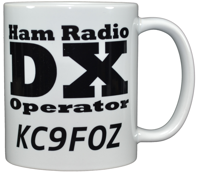 Ham Amateur Radio DX Operator Mug With Call.