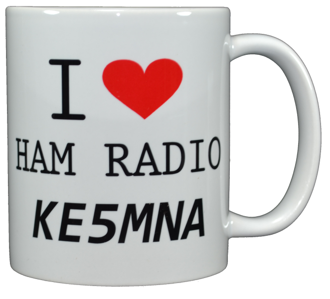 Ham Amateur Radio I Love Ham Radio Mug With Call.
