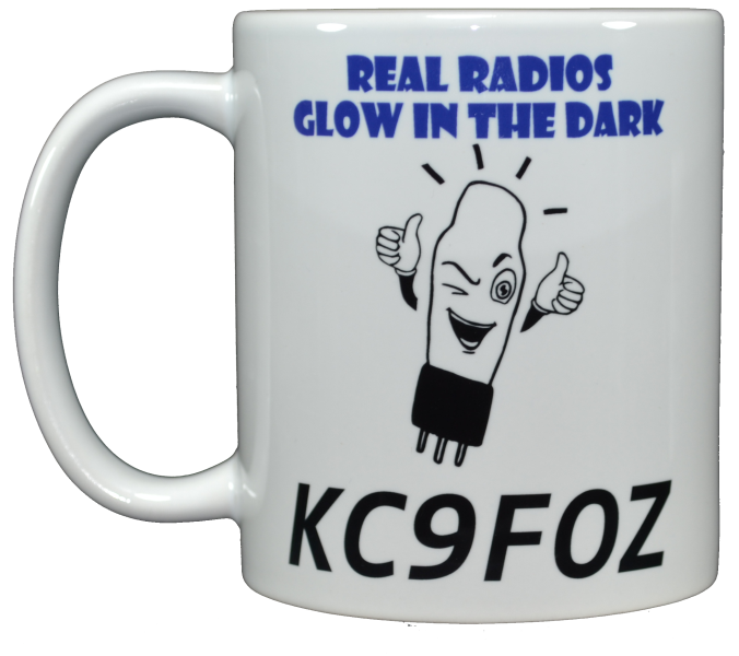 Ham Amateur Radio Real Radios Glow Mug With Call.