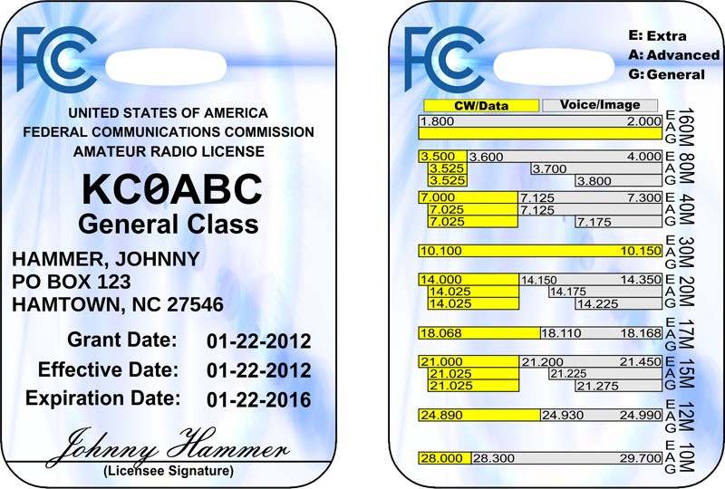 Ham Radio License ID Badge Ships Free!