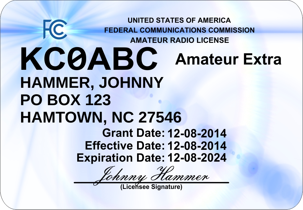 Ham Radio License Mini ID Badge Ships Free!