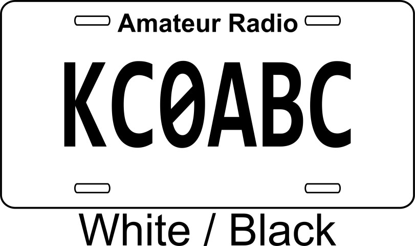 License Plate with Your Call