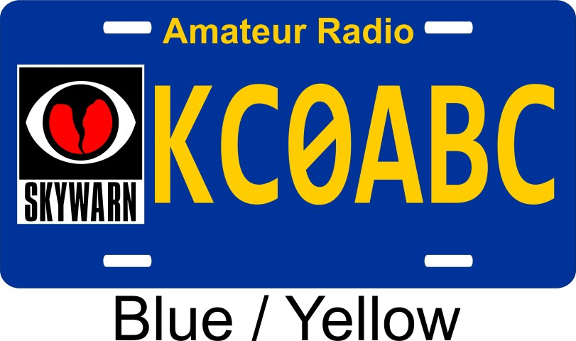 License Plate with Skywarn and your Call
