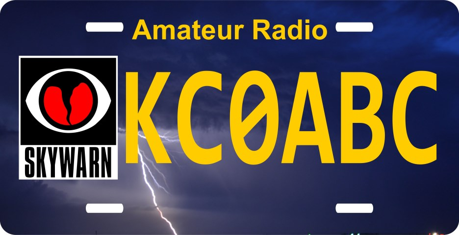 License Plate with Skywarn Storm and Your Call
