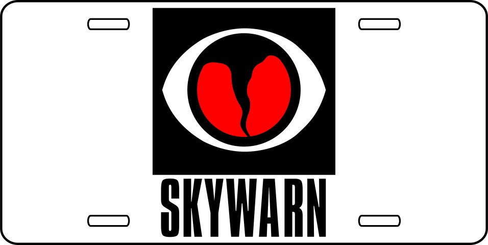 License Plate with Skywarn Logo